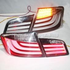 Задние фонари БМВ 5 серии 2010-2013 BMW F10 F18 520 525 530 535i LED Chrome Housing DB / Задняя оптика БМВ 5 серии 2010-2013