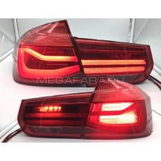 Задние фонари БМВ 3 серии 2012-2017 F30 F31 F34 V1 type Красные (комплект)