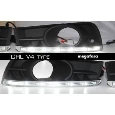 Дневные ходовые огни Шевроле Круз V4 Type (6 LED)