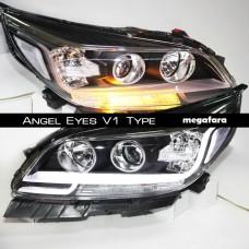 Передние фары Шевроле Малибу Angel Eyes V1 Type