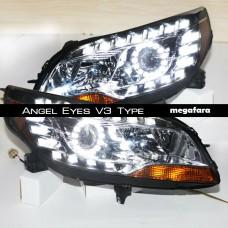Передние фары Шевроле Малибу Angel Eyes V3 Type