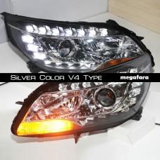 Передние фары Шевроле Малибу Silver Color V4 Type