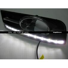Дневные ходовые огни Шевроле Круз V5 Type (9 LED)