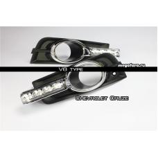 Дневные ходовые огни Шевроле Круз V8 type