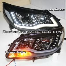 Передние фары Шевроле Малибу (Chevrolet Malibu) DZG Style