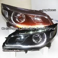 Передние фары Шевроле Малибу (Chevrolet Malibu) Audi style