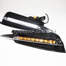 Дневные ходовые огни Шевроле Круз 2009-2012 V3 Type [Комплект Л+П;светодиодные; повторитель поворота]