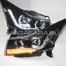 Передние фары Шевроле Круз V8 Type