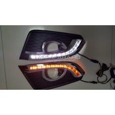 Дневные ходовые огни Шевроле Каптива 2014-2016 V6 type