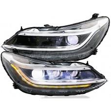 Передние фары Шевроле Круз 2017-2019 V22 type [Комплект Л+П; светодиодные; электрокорректор; яркие ходовые огни; динамичный поворотник]