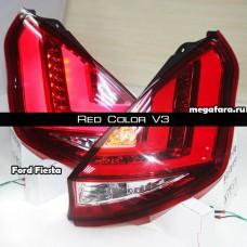 Задние фонари Форд Фиеста Red Color V3