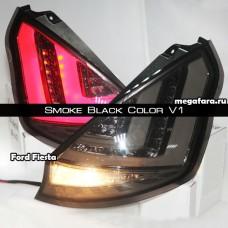 Задние фонари Форд Фиеста Smoke Black Color V1