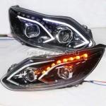 Передние фары Форд Фокус 3 2012-2014 V13 type [КОМПЛЕКТ Л+П; ходовые огни; биксеноновая линза; электрокорректор]