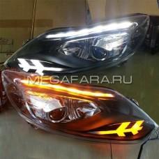 Передние фары Форд Фокус 3 2012-2014 V11 type
