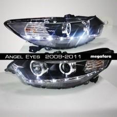 Передние фары Honda Accord Angel Eyes  2009-2011