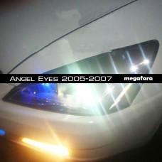 Передние фары Honda Accord Angel Eyes 2005-2007
