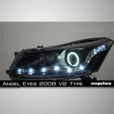 Передние фары Honda Accord Angel Eyes 2008 V2 Type