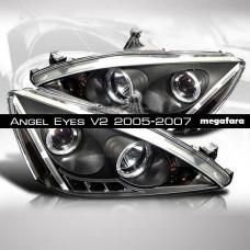 Передние фары Honda Accord Angel Eyes V2 Type 2005-2007