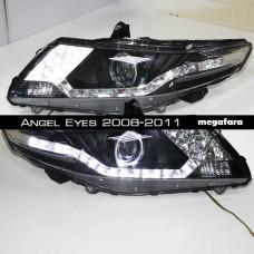 Передние фары Honda City Angel Eyes 2008-2011