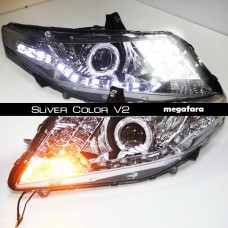 Передние фары Honda City Sliver Color V2