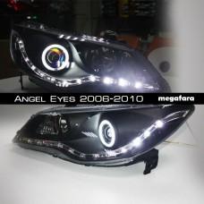 Передние фары Honda Civic Angel Eyes 2006-2010
