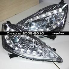 Передние фары Honda Fit Jazz Chrome 2009-2010