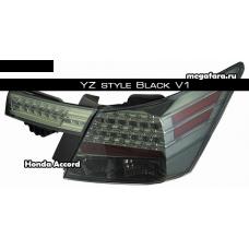 Задние светодиодные фонари Хонда аккорд 2008-2011 YZ style V1 Black