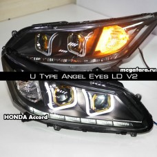 Передние фары Honda Accord U Type Angel Eyes LD V2