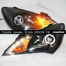 Передние фары Hyundai ROHENS Coupe Angel Eyes 2009-2012