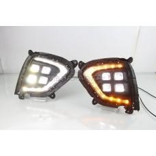 Дневные ходовые огни Хендай Крета IX25 2019-2021 V8 Type [Комплект Л+П;светодиодные; повторитель поворота]