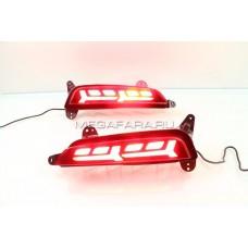 Светодиодные вставки в задний бампер Хендай Крета IX25 V3 Type