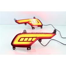 Светодиодные вставки в задний бампер Хендай Санта Фе IX45 V3 Type
