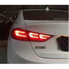 Задние фонари Хендай Элантра 2017-2019 V10 type [Комплект Л+П; Светодиодные; динамичный поворотник]