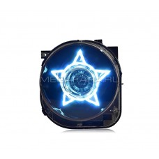 Передние фары Джип Ренегат 2015-2017 ЧЕРНЫЕ V2 type FULL LED
