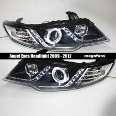 Передние фары KIA Cerato Angel Eyes 2009 - 2012 V1 type