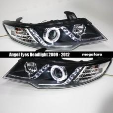 Передние фары KIA Cerato Angel Eyes 2009 - 2012 V1 type