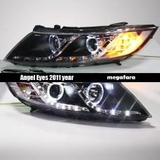 Передние фары KIA Optima Angel Eyes 2011