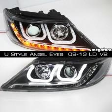 Передние фары KIA Sorento U Style Angel Eyes  2009-13 LD V2