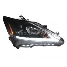 Передние фары Лексус is 250 is 300 2006-2012 V2 type [Комплект Л+П; светодиодные яркие ходовые огни; биксеноновая линза; электрокорректор]