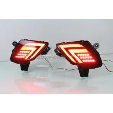 Светодиодные вставки в задний бампер Мазда СХ-5 V12 Type