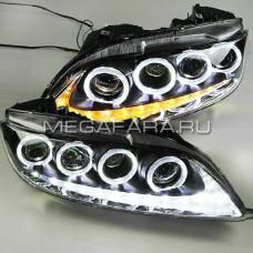 Передние фары Мазда 6 2004-2011 V2 type [Комплект Л+П; LED ходовые огни; электрокорректор; биксеноновая линза]