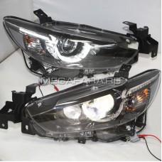 Передние фары Мазда 6 2013-2015 V8 type [Комплект Л+П; LED ходовые огни; электрокорректор; биксеноновая линза]