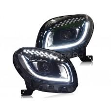 Передние светодиодные фары Мерседес Смарт 2015-2017 V1 type