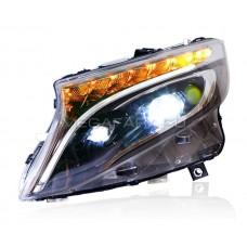 Передние фары Мерседес V-class W447 (VITO) FULL LED V2 type [Комплект Л+П; Полностью светодиодные]