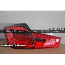 Задние фонари Mitsubishi Outlander SPORT ASX Red Black Color  YZ V1 type