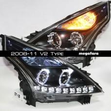 Передние фары Nissan Teana 2008-11 V2 Type