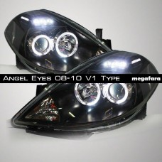 Передние фары Nissan Tiida Angel Eyes 2008-2010 V1 Type
