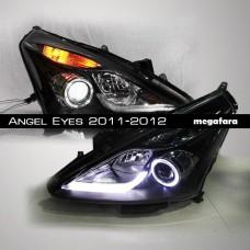Передние фары Nissan Tiida Angel Eyes 2011-2012