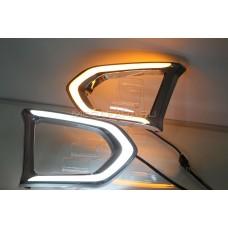 Дневные ходовые огни Ниссан Патрол 2014-2019 V1 Type [Комплект Л+П;светодиодные; повторитель поворота]