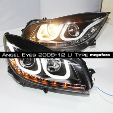 Передние фары Opel Insignia Angel Eyes 2009-2012 U Type